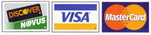 We Accept MC, Visa & Discover Cards